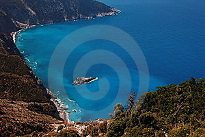 View Of Coasts At Kefalonia Island Royalty Free Stock Photos - Image: 15609988