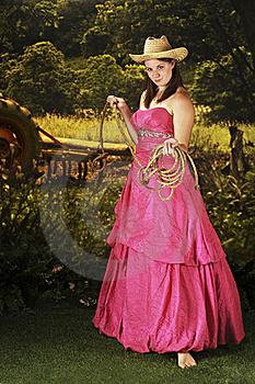Formal Cowgirl Royalty Free Stock Images - Image: 15612129