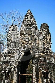 North Gate,Angkor,Cambodia Royalty Free Stock Photos - Image: 15612328