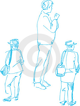 Sketch Of Fellow Dark Blue By A Penci Stock Image - Image: 15613761