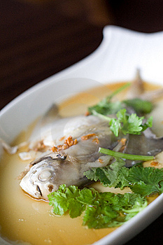Steamed Pom Fret Fish Royalty Free Stock Photo - Image: 15613945