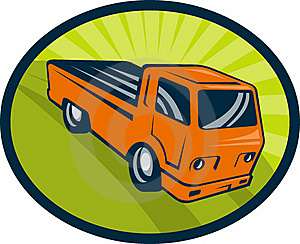 Vintage Pick-up Cargo Truck Royalty Free Stock Photo - Image: 15616145