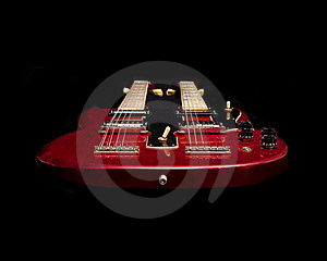 Floating Red Guitar Stock Images - Image: 15620404