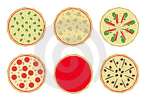 Pizza With Toppings 1 Stock Image - Image: 15621151