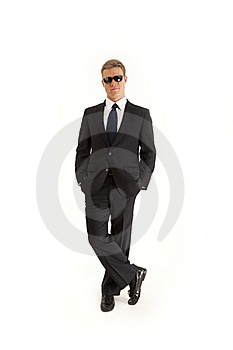 Confide Young Businessman With Sunglasses Stock Photos - Image: 15622483
