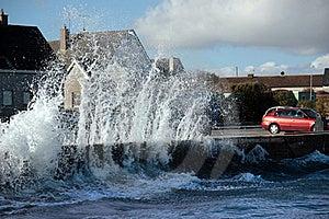 Waves Crashing Against Coastal Wall Royalty Free Stock Photo - Image: 15622795