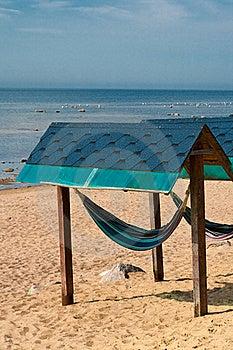Hammock On The Sea Coast. Stock Images - Image: 15625234