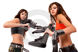 Image Of A Two Armed Girls Royalty Free Stock Photo - Image: 15626365