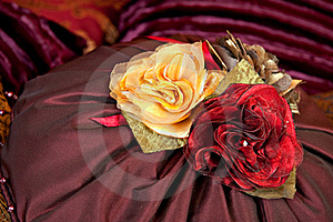 Silk Pillow Roses Stock Photo - Image: 15630550