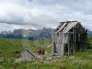 Wooden Hut In The Dolomites Royalty Free Stock Photos - Image: 15638868