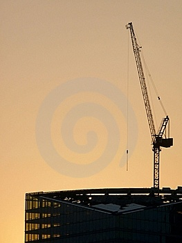 Building. Sunset. Royalty Free Stock Images - Image: 15640649