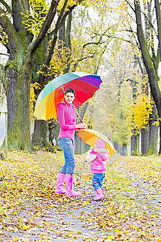 People In Autumnal Alley Royalty Free Stock Photography - Image: 15642217