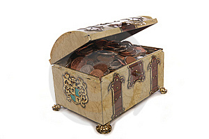 Treasure Chest With Money Stock Images - Image: 15642604