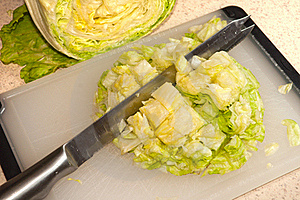 Cut Up Iceberg Lettuce Stock Images - Image: 15644684