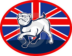 Proud English Bulldog Flag British Stock Photo - Image: 15648780