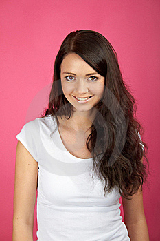 Smiling Happy Woman Royalty Free Stock Image - Image: 15649016
