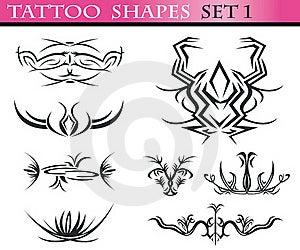 Tattoo Shapes Set 1 Stock Photography - Image: 15649092