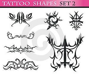 Tattoo Shapes Set 2 Royalty Free Stock Images - Image: 15649099