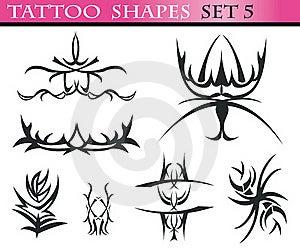 Tattoo Shapes Set 5 Stock Image - Image: 15649131