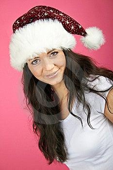 Smiling Christmas Woman Stock Photo - Image: 15649890