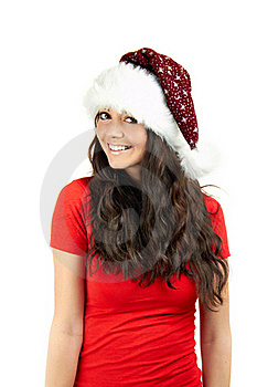 Smiling Christmas Woman Royalty Free Stock Photography - Image: 15649927