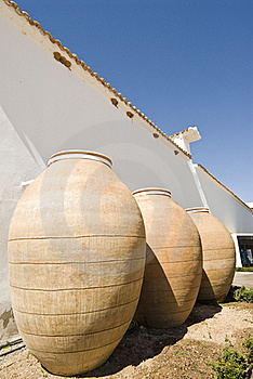 Clay Jugs Royalty Free Stock Photography - Image: 15651497