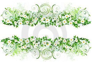 Floral Decoration With White Daisies Stock Images - Image: 15653714
