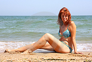 Woman On The Beach Royalty Free Stock Photo - Image: 15659065