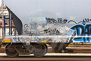 Graffiti On Side Of Railroad Car Stock Images - Image: 15660484