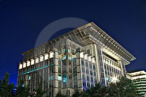 Building Late At Night Royalty Free Stock Photography - Image: 15661127