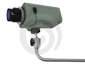 Videocamera Of Supervision Royalty Free Stock Image - Image: 15661896