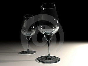 Two Glasses Stock Images - Image: 15662534