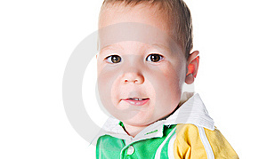 Cute Little Boy Close-up Stock Image - Image: 15662541