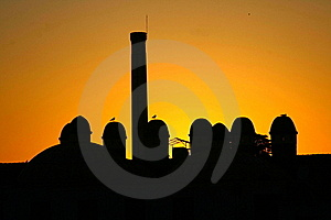 Fiery Silhouette Royalty Free Stock Photo - Image: 15663315