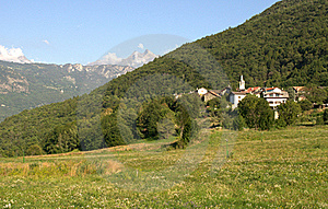 Village In The Alps Stock Image - Image: 15663511