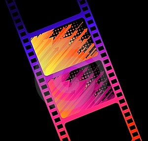 Blank Film Colorful Strip Royalty Free Stock Photos - Image: 15663548