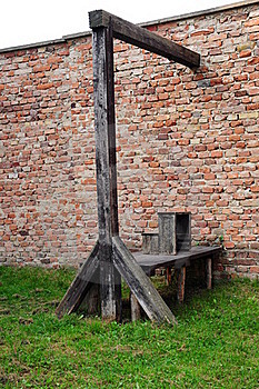 Place Of Execution With Medieval Gallows Royalty Free Stock Images - Image: 15665529
