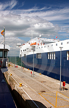 Ferry Port Quayside Royalty Free Stock Images - Image: 15665629