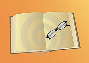 Open Book And Glasses Stock Images - Image: 15666474