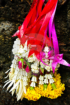 Garland For Worship Buddha Stock Photos - Image: 15668823