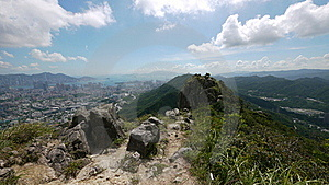 On Top Of Lion Rock Stock Image - Image: 15669271