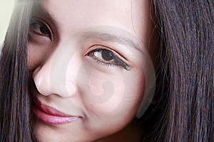 Asian Woman's Face Stock Image - Image: 15669341