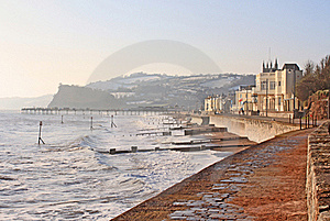 Teignmouth In Winter Royalty Free Stock Photography - Image: 15670227