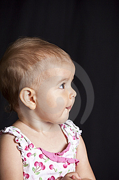 Baby Girl With Tongue Royalty Free Stock Photography - Image: 15670417