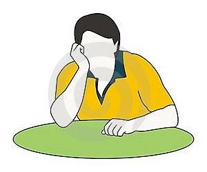 Man Contours Thinking Stock Images - Image: 15671244