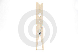 Wooden Clothespin Royalty Free Stock Image - Image: 15671246