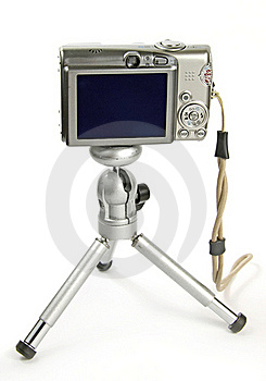 Digital Camera On Tripod Royalty Free Stock Photo - Image: 15671355