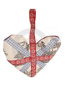 Union Jack Fabric Heart Decoration Royalty Free Stock Images - Image: 15671409