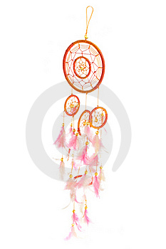 Orange And Pink Dreamcatcher Royalty Free Stock Photography - Image: 15671427