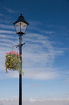 Vintage Lamp Post Scene Royalty Free Stock Photography - Image: 15671607
